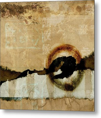 Mapping The Mountains Mixed Media Metal Print