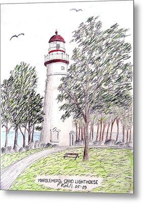 Marblehead Ohio Lighthouse  Metal Print by Frederic Kohli
