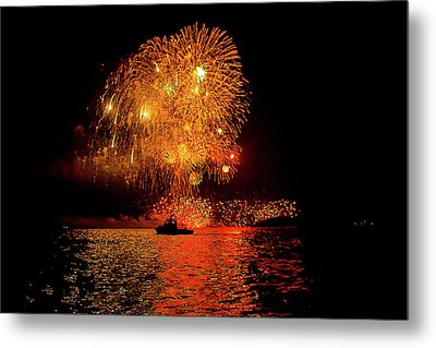 Metal Print featuring the photograph Marblehead Fireworks by Jeff Folger