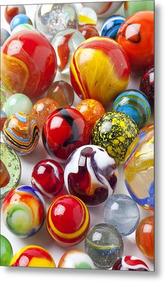 Marbles Close Up Metal Print
