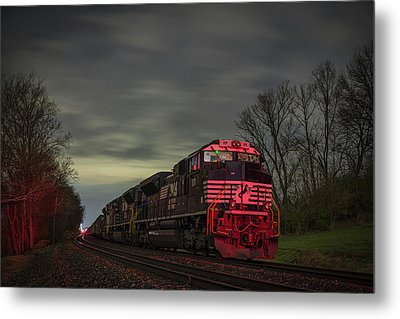 March 25 2017 Ns 871 At Lyle Siding Princeton In Metal Print by Jim Pearson