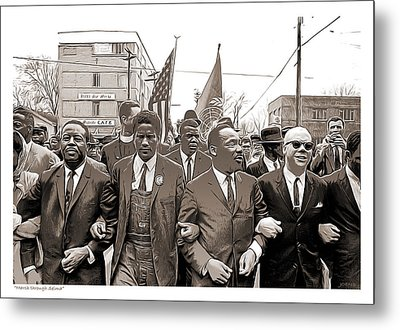 March Through Selma Metal Print