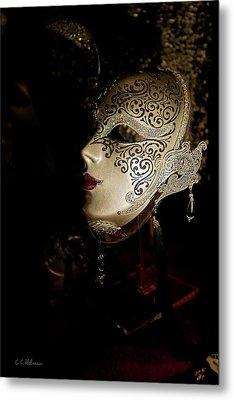 Mardi Gras Mask Metal Print by Christopher Holmes