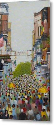 Mardi Gras On Bourbon Street Metal Print by Douglas Ann Slusher