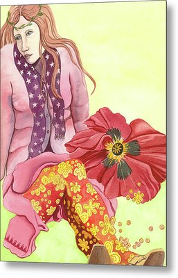 Metal Print featuring the painting Margaret's Magic Stockings by Sheri Howe