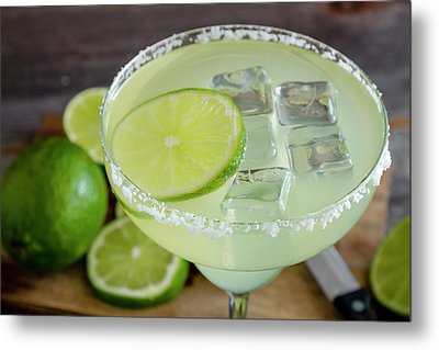 Metal Print featuring the photograph Margarita Close Up by Teri Virbickis