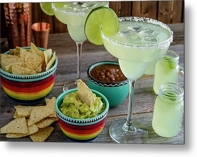 Metal Print featuring the photograph Margarita Party by Teri Virbickis