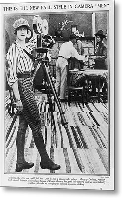 Margery Ordway, Woman Cinematographer Metal Print by Everett