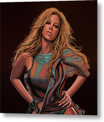 Mariah Carey Painting Metal Print