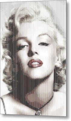 Marilyn Monroe - Colored Verticals Metal Print