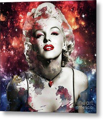 Marilyn Monroe   Colorful  Metal Print by Prar Kulasekara