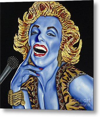 Marilyn Metal Print by Nannette Harris