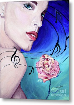Marilyns Music In The Wind Metal Print by Lisa Rose Musselwhite