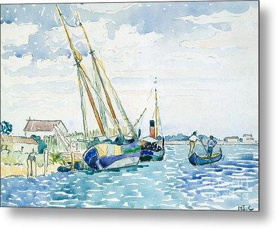Marine Scene, Boats Near Venice, 1903  Metal Print