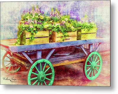 Metal Print featuring the photograph Market Flowers by Wallaroo Images