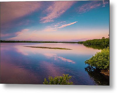 Metal Print featuring the photograph Marsh At Sunrise by Steven Ainsworth
