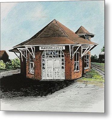 Marshallville Depot Metal Print