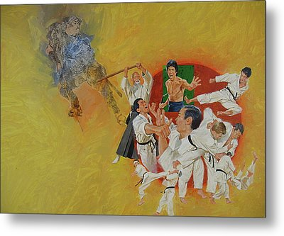 Martial Arts Metal Print by Cliff Spohn