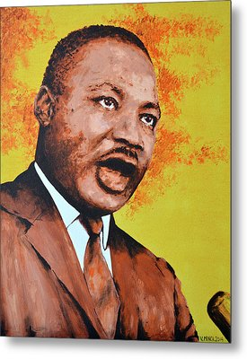 Martin Luther King Metal Print by Victor Minca