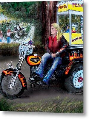 Marty's Harley Metal Print by Albert Puskaric