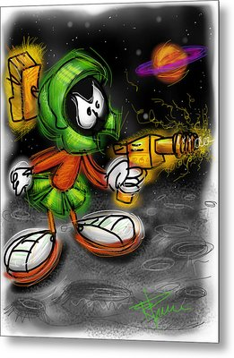 Marvin The Martian Metal Print