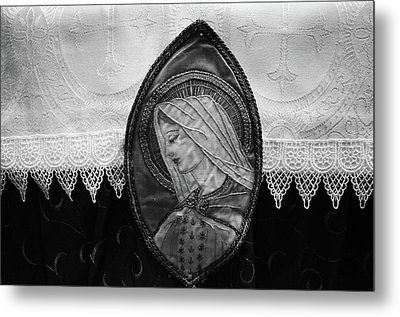 Mary Altar Cloth Metal Print by Jeanette O'Toole