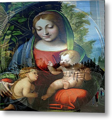 Mary Jesus And John  Metal Print