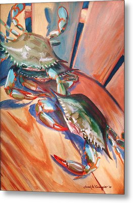 Maryland Blue Crabs Metal Print