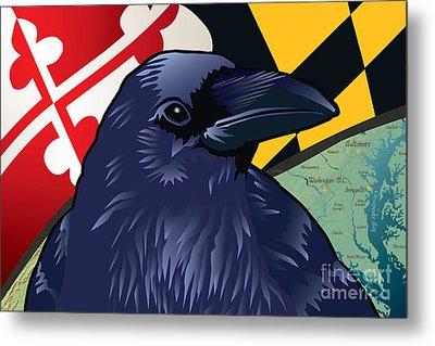 Maryland Citizen Raven Metal Print