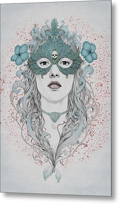 Masked Metal Print by Diego Fernandez