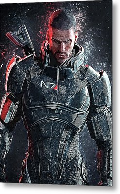Metal Print featuring the digital art Mass Effect by Taylan Apukovska