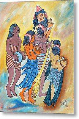 Metal Print featuring the painting Masterpiece In Art by Ragunath Venkatraman