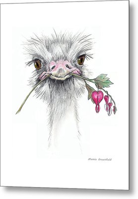 Matilda The Ostrich Metal Print