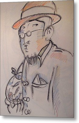 Matisse En Route To His Studio With Goldfish Metal Print by Charlie Spear