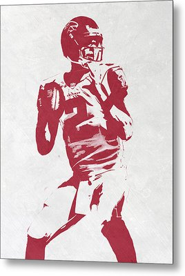 Matt Ryan Atlanta Falcons Pixel Art 2 Metal Print by Joe Hamilton