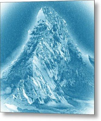 Metal Print featuring the mixed media Matterhorn by Frank Tschakert