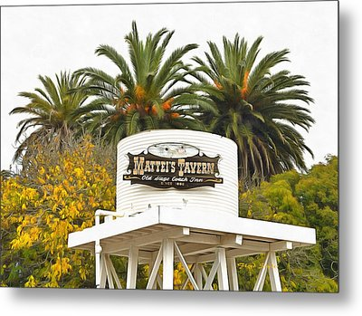 Metal Print featuring the photograph Matties Tavern Los Olivos California by Floyd Snyder