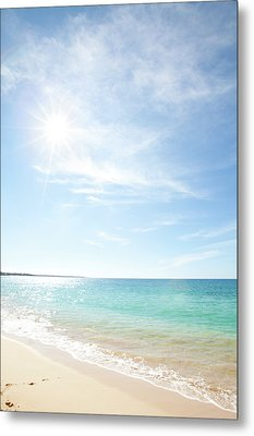 Maui Beach Metal Print by Monica and Michael Sweet