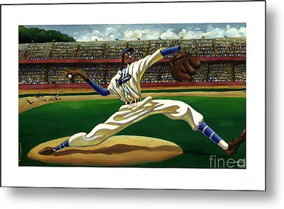 Max On The Mound Metal Print by Keith Shepherd