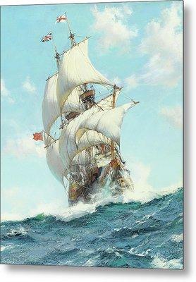 Mayflower II - Detail Metal Print by Montague DawsonMayflower II