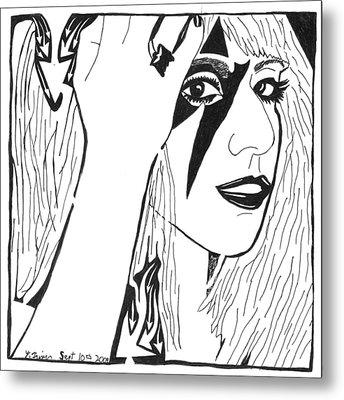 Maze Of Lady Gaga Metal Print by Yonatan Frimer Maze Artist