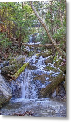 Mcconnells Mill Rock Falls Winter  Metal Print
