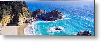Mcway Falls, Mcway Cove, Julia Pfeiffer Metal Print by Panoramic Images