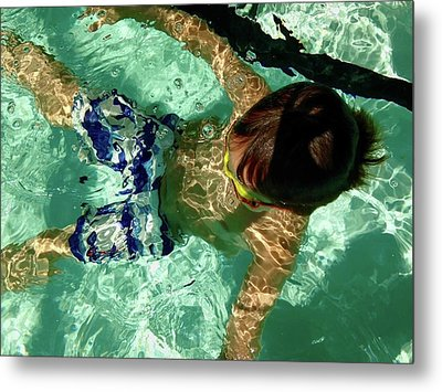 Me Time Metal Print by Anna Villarreal Garbis