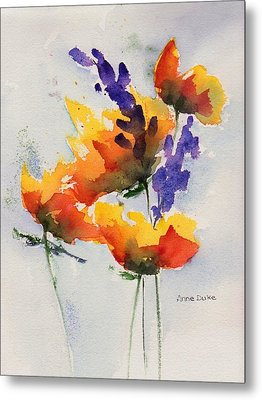 Meadow Muse Metal Print by Anne Duke