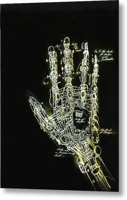 Mechanical Hand Metal Print by Ralph Nixon Jr