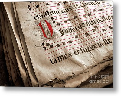 Medieval Choir Book Metal Print