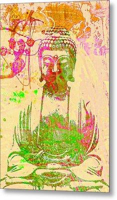 Meditating Buddha  Metal Print by Brian Broadway