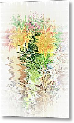 Meditation Pond Metal Print