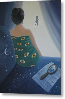 Metal Print featuring the painting Melancholy Of An Odalisque by Tone Aanderaa